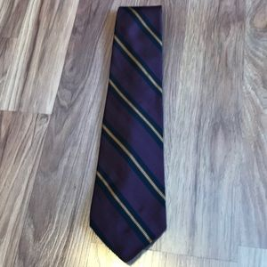 Robert Talbott men's purple stripe neck tie NWT